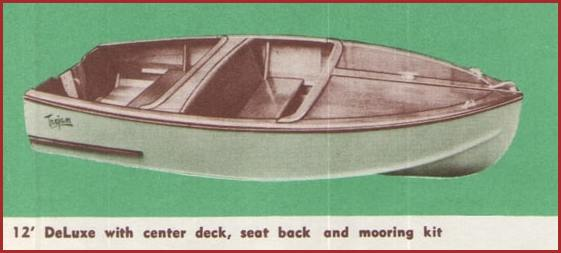 1952 sea queen deluxe 12 foot center decks