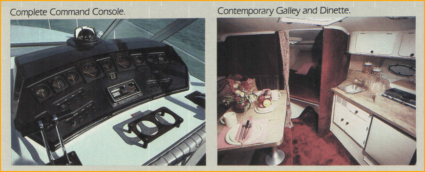 1985 9 Meter sport yacht console and galley