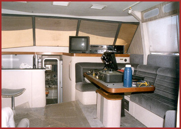 14 meter galley and salon