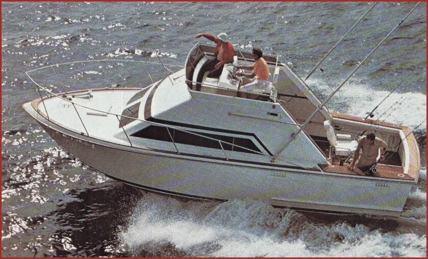 1974 f30 sport fisherman at sea