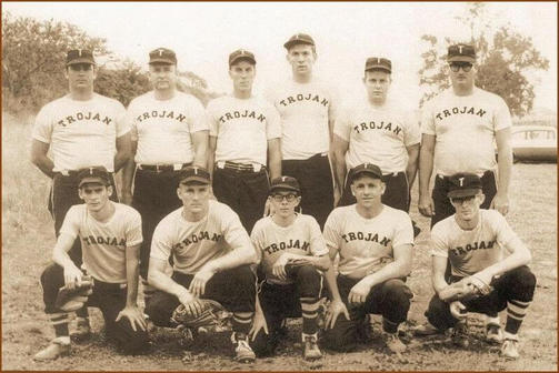 Trojan fast-pitch softball team - 1963